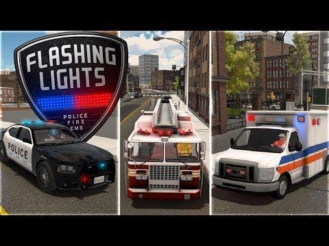 Flashing Lights - Emergency Response Simulator - Police, Fire & EMS - Flashing Lights Gameplay
