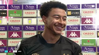 """I just love football!"" Jesse Lingard reacts to dream West Ham debut vs Aston Villa"
