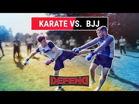 BJJ vs. Karate | Crazy K.O. | DEFEND Fight Club