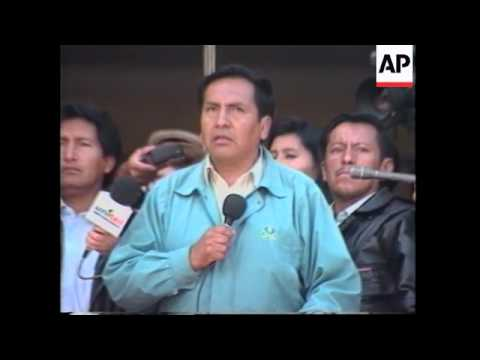 BOLIVIA: THOUSANDS OF WORKERS MARCH IN PROTEST AT FUEL PRICE RISE