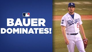 New Dodgers pitcher Tręvor Bauer DOMINATES with 1-hit performance