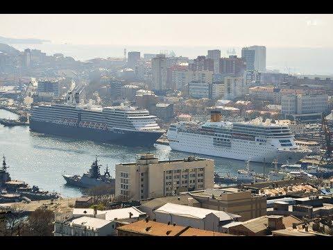 Два круизных лайнера во Владивостоке