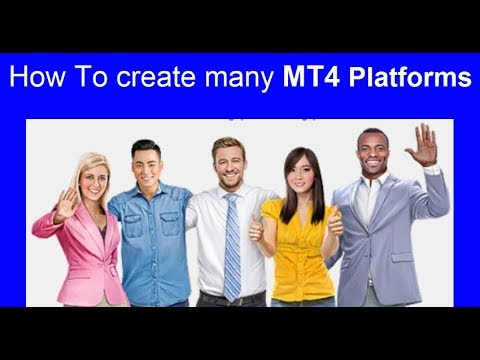 How to create many MT4 Forex trading Platforms to trade live, demo trade, test and optimise EAs.
