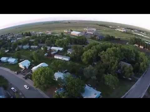 Eagle Butte, SD drone view from meadowlark hill