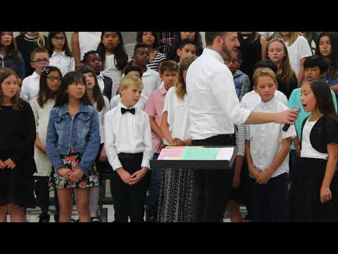 """Newhall School District Music Makers Perform """"Rise Up"""" at Wiley Canyon Elemtary School 5/24/18"""