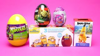 Surprise Egg Collection - Angry Birds Minions and Trolls