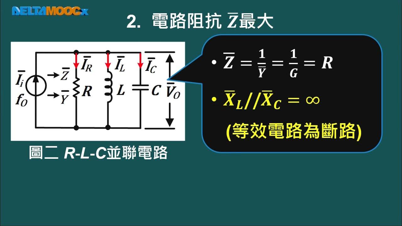 高中 陳政旭 基本電學 Unit11 5 PART B R L C並聯諧振電路之諧振特性 1080 0303 - YouTube