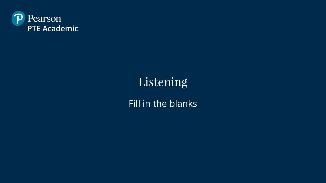 Fill In The Blanks - English Listening Test | PTE Academic