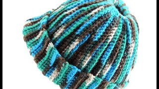 Repeat youtube video Crochet: Gorro Ana (con Apertura para el pelo)