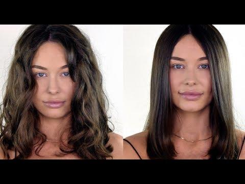 Как из вьющихся волос сделать прямые