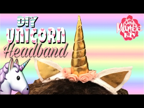 DIY Unicorn Headband 🦄🌈🦄