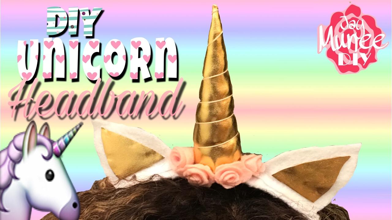 Diy Unicorn Headband Youtube