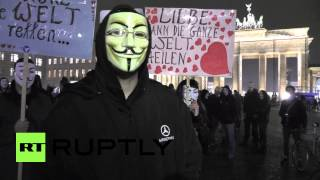 Germany: Anonymous Million Mask March hits Berlin