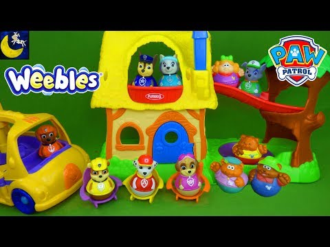 Paw Patrol Weebles Toys Nursery Rhymes Goldilocks and the 3 Bears School Bus Episode Video for Kids