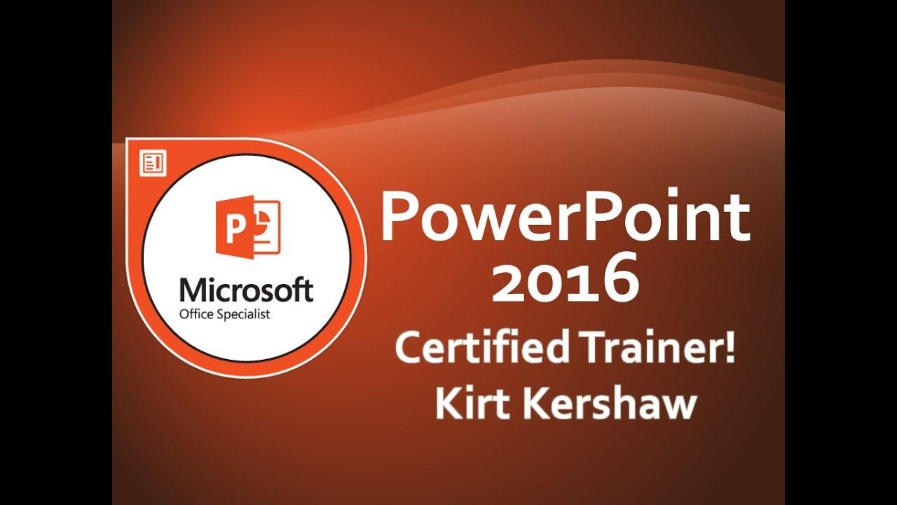 Microsoft PowerPoint 2016: Add, Delete and Modify Slide Layouts