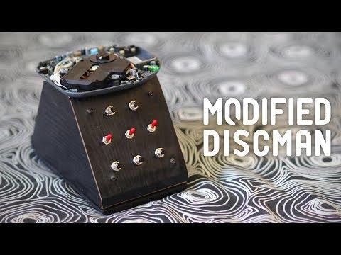 Circuit- bent Discman portable CD player