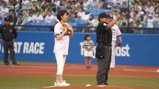 2018.5.27 佐藤美希さん 始球式@神宮球場.