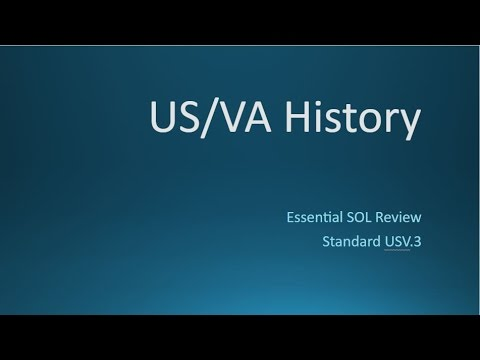 US/VA History - SOL Review - Standard 3 - British Colonial Regions