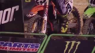 Andrew short Starts 3rd Gear - Replay AMA Supercross 2015 Indianapolis 450