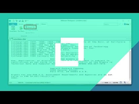 #HowTo Record a Macro When Using the Reflection Desktop Ribbon