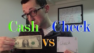 What's the difference between Checks and Cash?   What is a cashiers check or bank check?