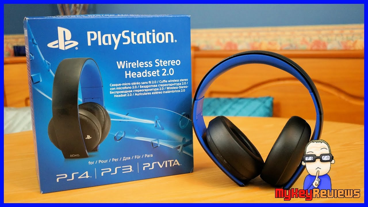 official sony playstation gold 7 1 wireless headset ps4 unboxing rh youtube com Sony Aviation Headset Sony Wireless Stereo Headset