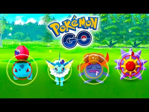 WILD VAPOREON, GLOOM, STARMIE, IVYSAUR + MORE IN POKEMON GO! Wild Pokemon Go Catching Spree Ep4