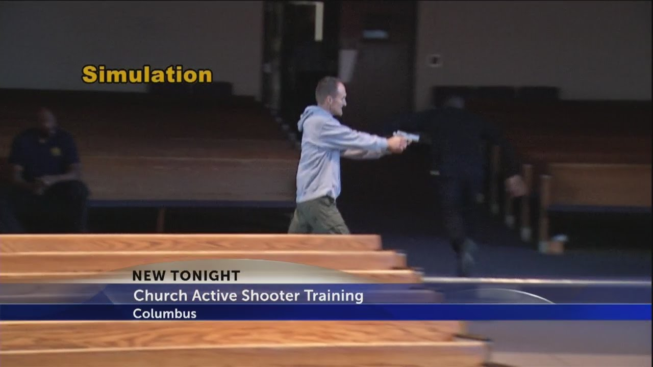 Church active shooter training - YouTube