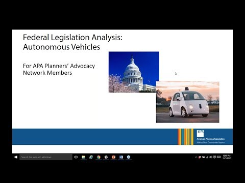 Federal Legislation Analysis: Autonomous Vehicles
