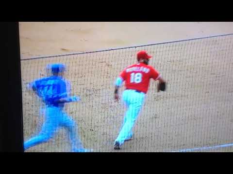 Illegal Slide + Fight Toronto Bluejays vs. Texas Rangers 2016☑️