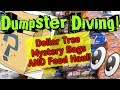 DUMPSTER DIVING! Dollar Tree FOOD HAUL and Mystery GRAB BAGS!