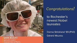 Congratulations from Sara Bucht to Donna Strickland