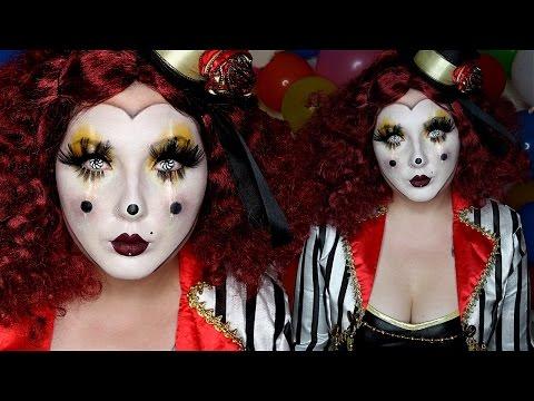 Clown Mask Halloween Costume Makeup Tutorial
