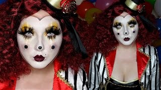 Clown Mask Halloween Costume Makeup Tutorial