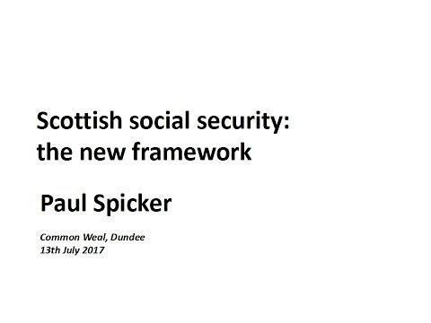 Social Security - The New Framework