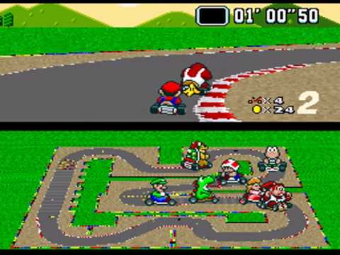 super mario kart playthrough flower cup mario circuit 3 youtube. Black Bedroom Furniture Sets. Home Design Ideas