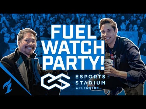 First Fuel Watch Party at the Esports Stadium in Arlington | Burning Blue | Dallas Fuel