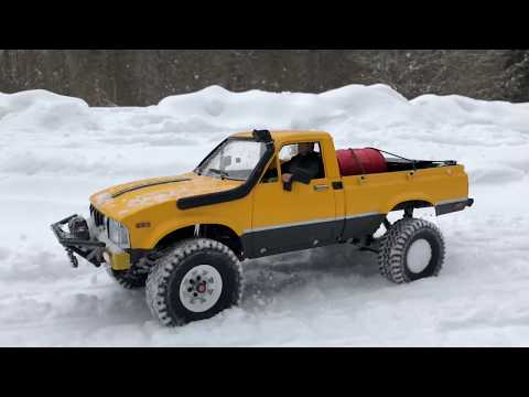 RC Scale Studio Truck OFF Road Snow Adventures Rc4WD Trail Finder 2  Forest Run Toyota Hilux
