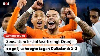Samenvatting Duitsland-Nederland 2-2   Nations League