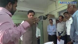 Akola! ही सफाई मी करू का?पालक मंत्री गेले कार्यालयत!अधिकारी झाले सुन्न!Dr ranjit patil visit office