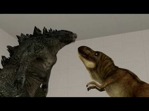 Download Youtube: [SFM]Godzilla 2014 and T-Rex