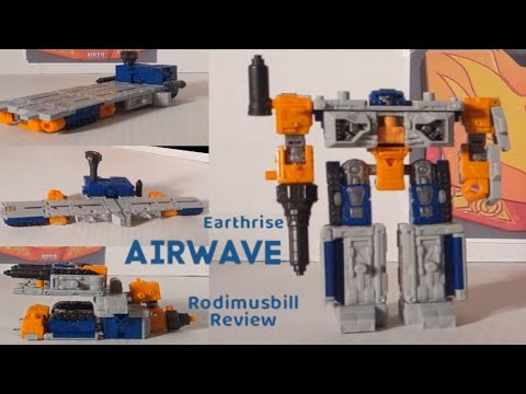 Earthrise Decepticon Airwave Deluxe Transformers WFC Review by Rodimusbill