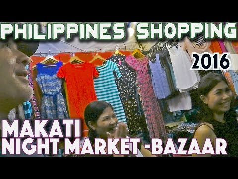 Makati City  -Philippines | Night shopping | Manila Food Bazaar| Asia Travel VLOG
