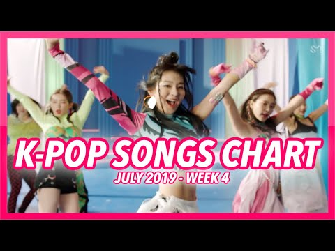 TOP 100 K-POP SONGS CHART  JULY 2019 WEEK 4