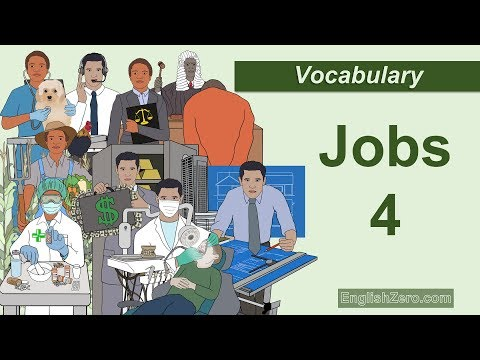 Jobs 4 Vocabulary English Lesson