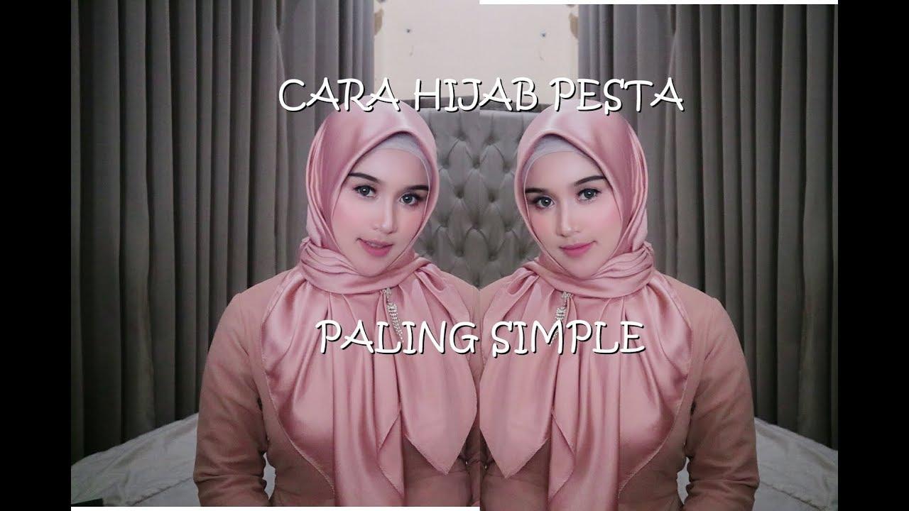 Tutorial Cara Hijab Pesta Kondangan Paling Simple Cantik Dan Elegand 2020 Belajar Hijab 2020 Youtube