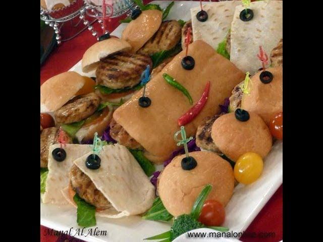 برجر الدجاج - مطبخ منال العالم