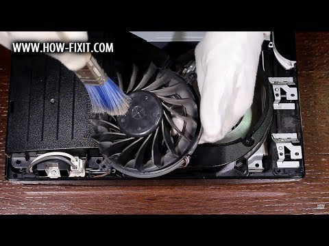 How to disassemble and fan cleaning PS3 Slim