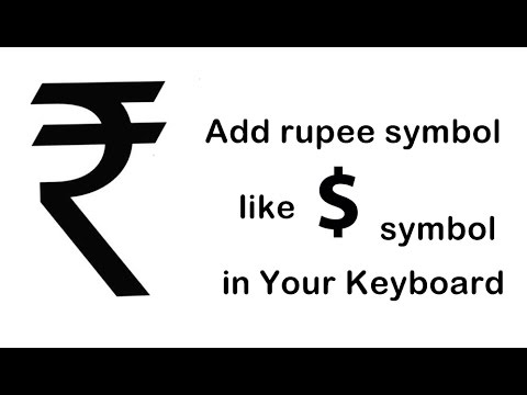 How To Addtype Rupee Symbol In Keyboardshortcut Key Youtube
