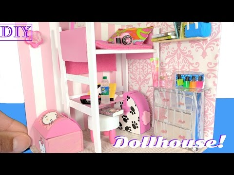 DIY Miniature Dollhouse Room for a Girl - Not a Kit - DIY